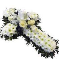 Cross flower wreath - Funeral