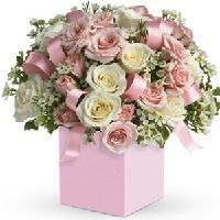 New born Girl flowers